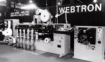 Early photo of Webtron machine