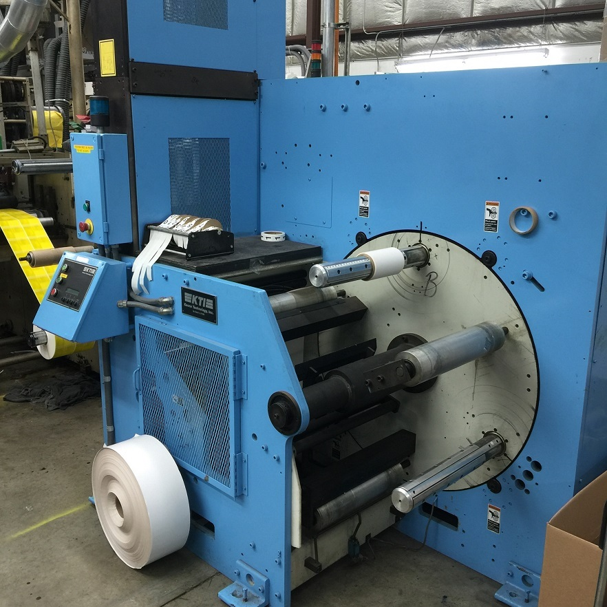 KTI Turret Rewinder - Used Flexo Printing Presses and Used Flexographic Equipment-