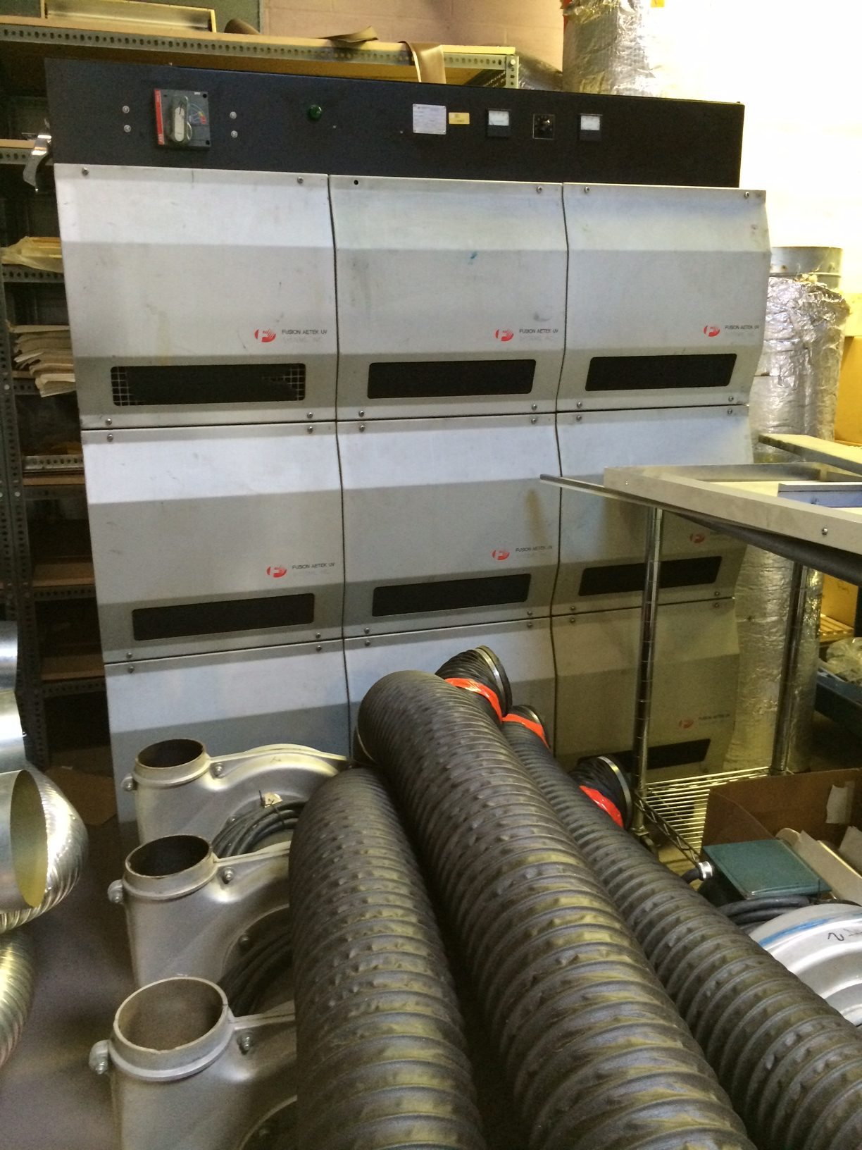 "Aetek 10"" UV System - Used Flexo Printing Presses and Used Flexographic Equipment-2"