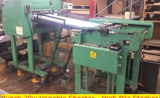 BBunch & Variable High Pile Stacker - Used Flexo Printing Presses and Used Flexographic Equipment